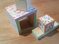 マスキングテープと木工作品との組み合わせ♪