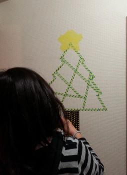クリスマスマスキング壁2-1