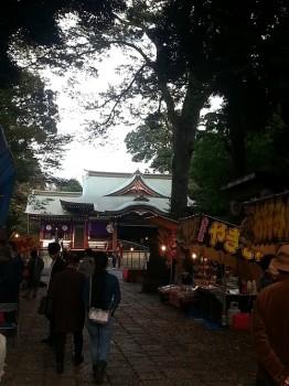 武蔵野八幡酉の市の様子