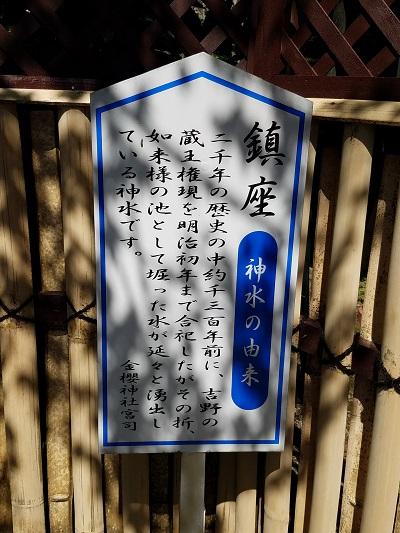 金桜神社お水取り