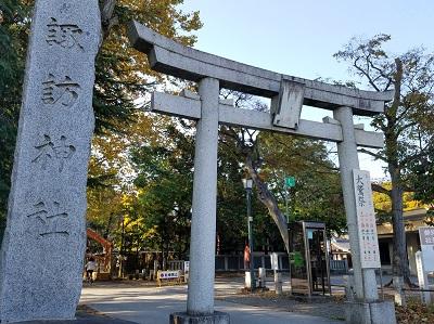 立川諏訪神社東門