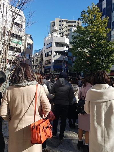 東京大神宮待ち時間行列