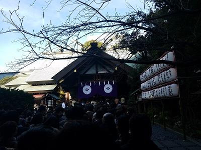 東京大神宮初詣待ち時間