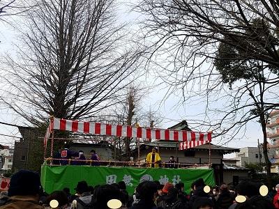 田無神社節分祭混雑状況