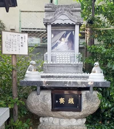川越熊野神社撫で蛇