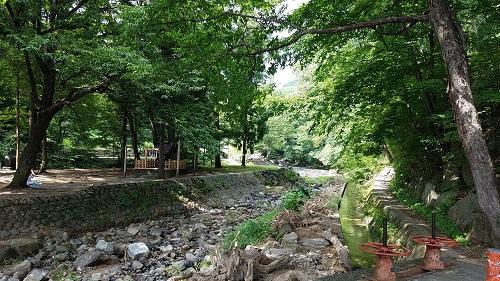 諏訪大社春宮から万治の石仏へのルート1