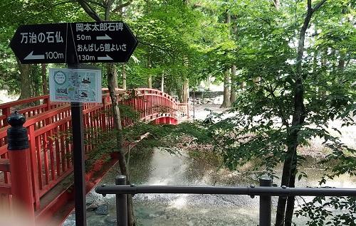 諏訪大社春宮から万治の石仏へのルート3