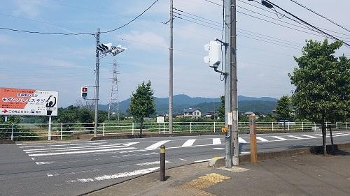 高麗川駅から行き方目印ローソン手前を左に曲がる場合。