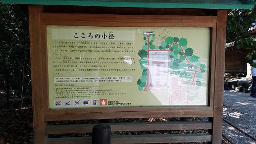 熱田神宮こころの小径看板