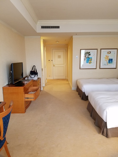 名古屋マリオットホテルコンシェルジュフロアデラックスダブルの室内