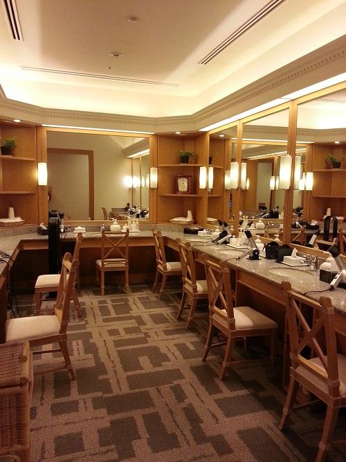 名古屋マリオットホテルリラクゼーションルームパウダールーム