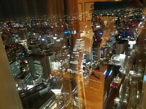 名古屋マリオットホテルコンシェルジュフロアからの夜景