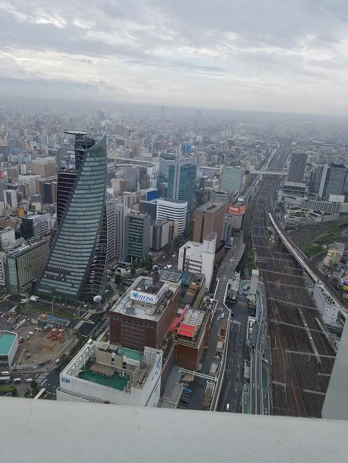 名古屋マリオットホテルコンシェルジュフロアからの風景朝