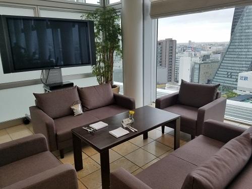 名古屋マリオットホテル朝食タイムソファ席