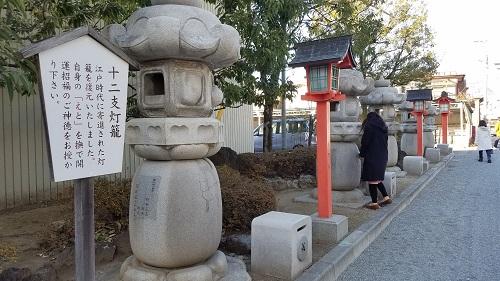 稲積神社十二支灯籠
