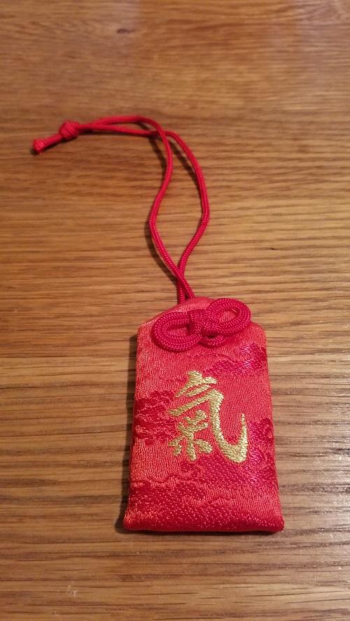 三峯神社の気のお守りの赤は?