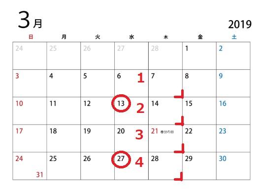 曜日の数え方!第二水曜日と第二週の水曜日の違いは?