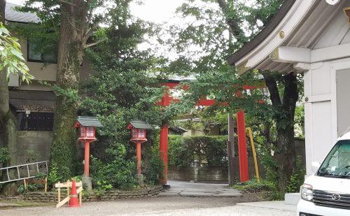 馬橋稲荷神社のパワースポット西鳥居